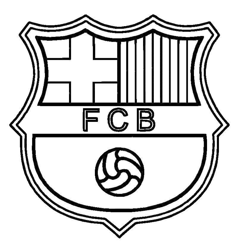 Раскраска Футбол Скачать ,футбол, клуб, Барселона,.  Распечатать