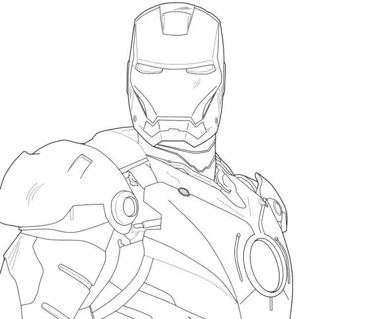 Раскраска Грозный железный человек Скачать Комиксы, Железный человек.  Распечатать ,Комиксы,