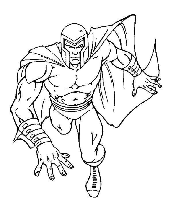 Название: Раскраска Человек мутант в плаще. Категория: Люди икс. Теги: плащ, мутант.