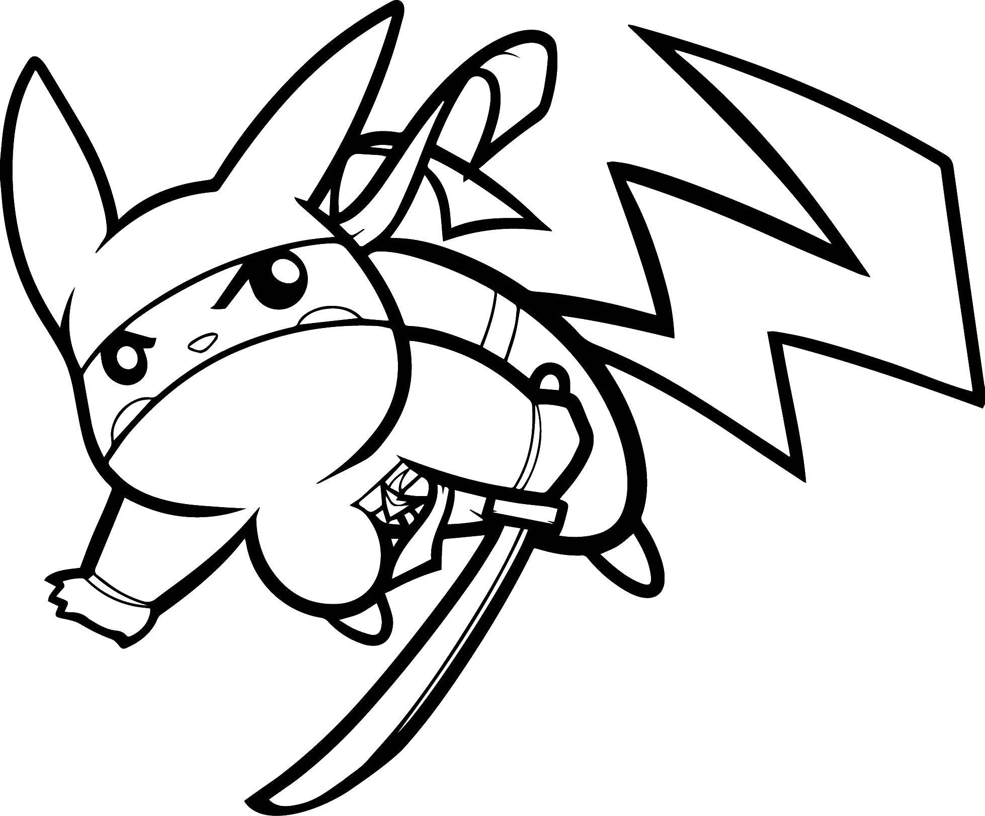 Раскраска Покемон пикачу Скачать ,мультфильмы, Покемоны, Пикачу,.  Распечатать
