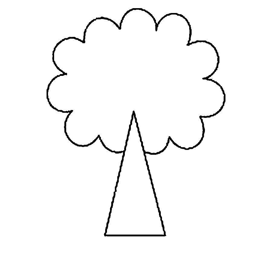 Раскраска Деревце Скачать шаблон, трафарет, дерево.  Распечатать ,Трафареты для вырезания,