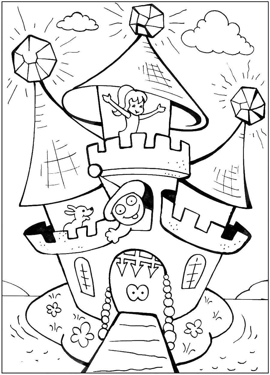Раскраска замки Скачать человек паук, супергерои.  Распечатать ,Для мальчиков,
