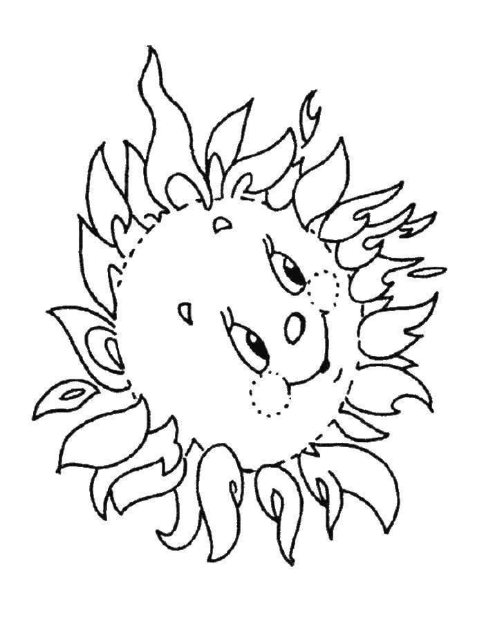 раскраски раскраска солнышко солнце раскраски детские
