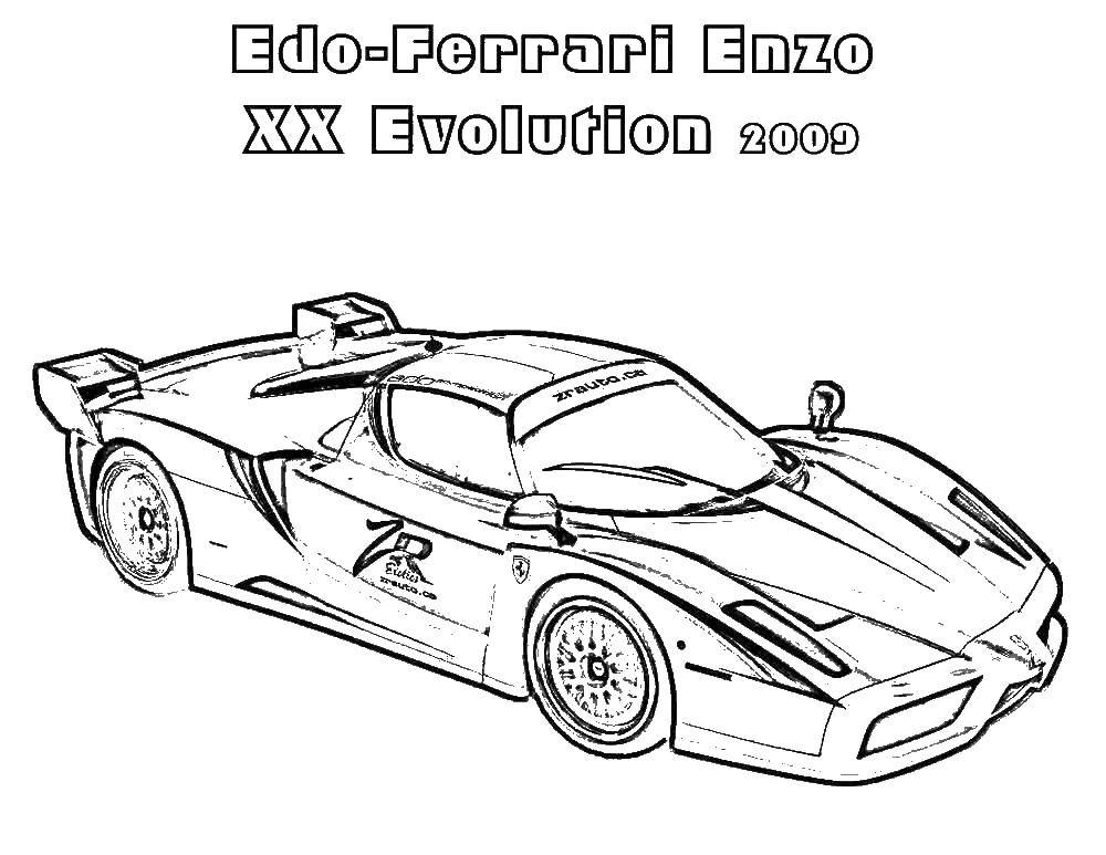 Ferrari ENZO Coloring Pages Coloring Pages For Kids #oS ... | 773x1000
