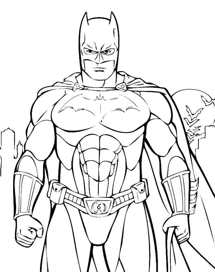 Название: Раскраска Грозный бэтмэн. Категория: Комиксы. Теги: Комиксы, БэтМэн.