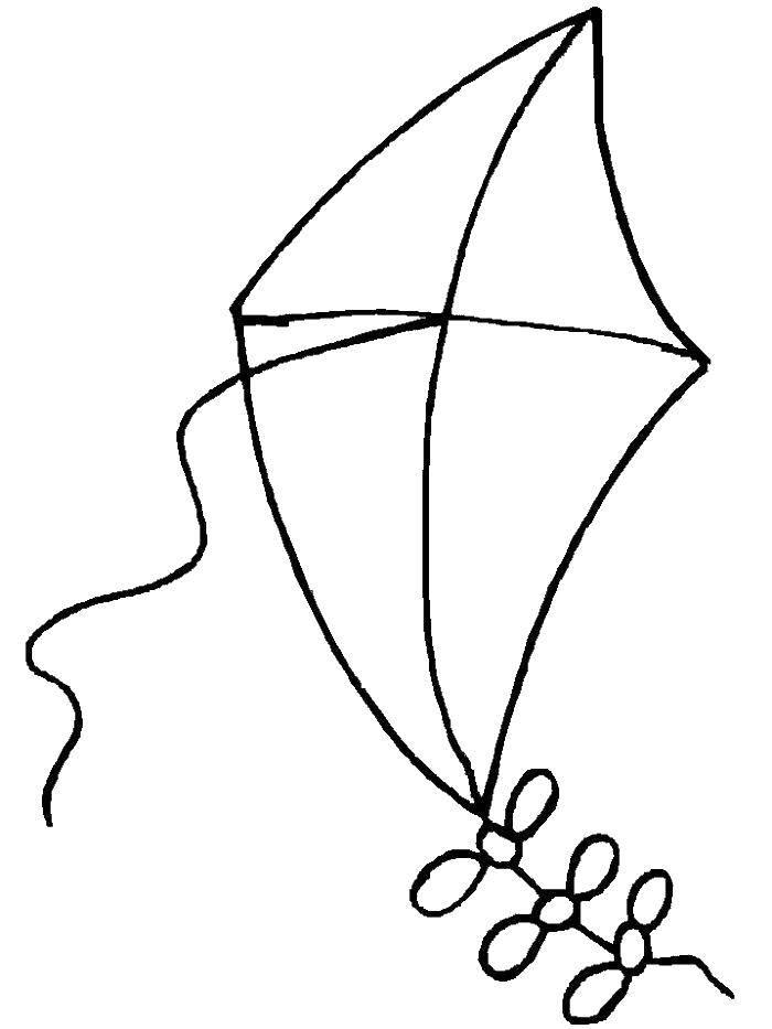 Раскраска воздушный змей Скачать единорог, крылья, корона.  Распечатать ,мой маленький пони,