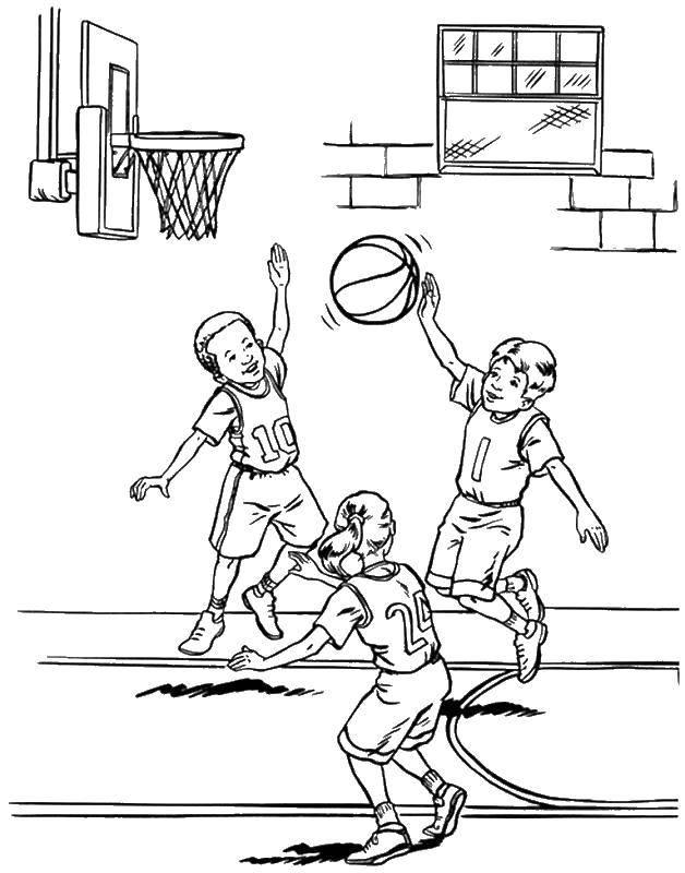 Раскраска баскетбол Скачать .  Распечатать