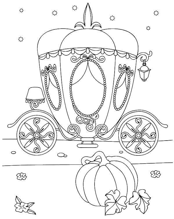 Раскраска Тыква карета Скачать карета.  Распечатать ,карета,