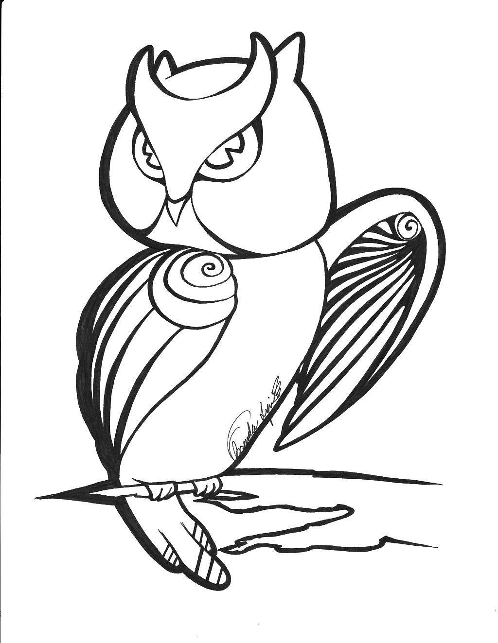 Раскраска Контуры для вырезания птиц Скачать контур, ладони, пальцы.  Распечатать ,Контур руки и ладошки для вырезания,