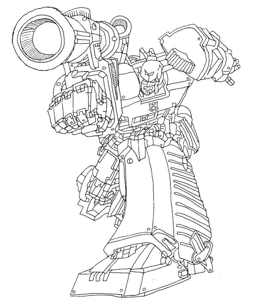 раскраски робот раскраска трансформер робот трансформеры