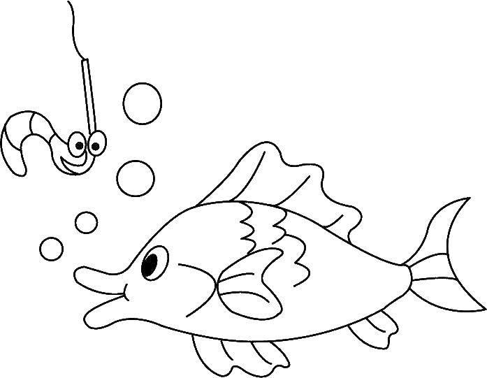 Раскраска рыбы Скачать ,гринч,.  Распечатать