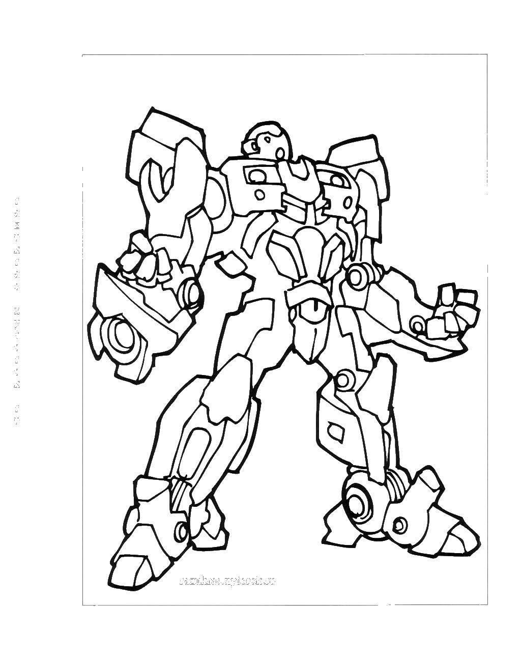 Раскраска Большой трансформер Скачать ,роботы, трансформеры,.  Распечатать