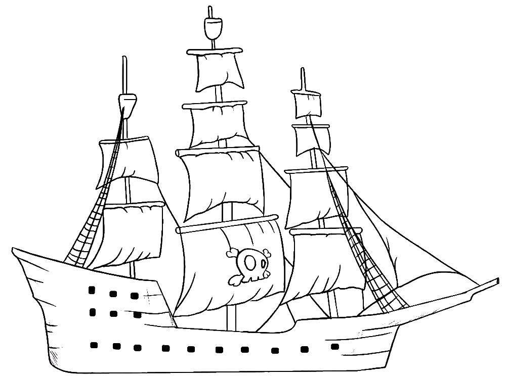раскраски кораблик страница 5