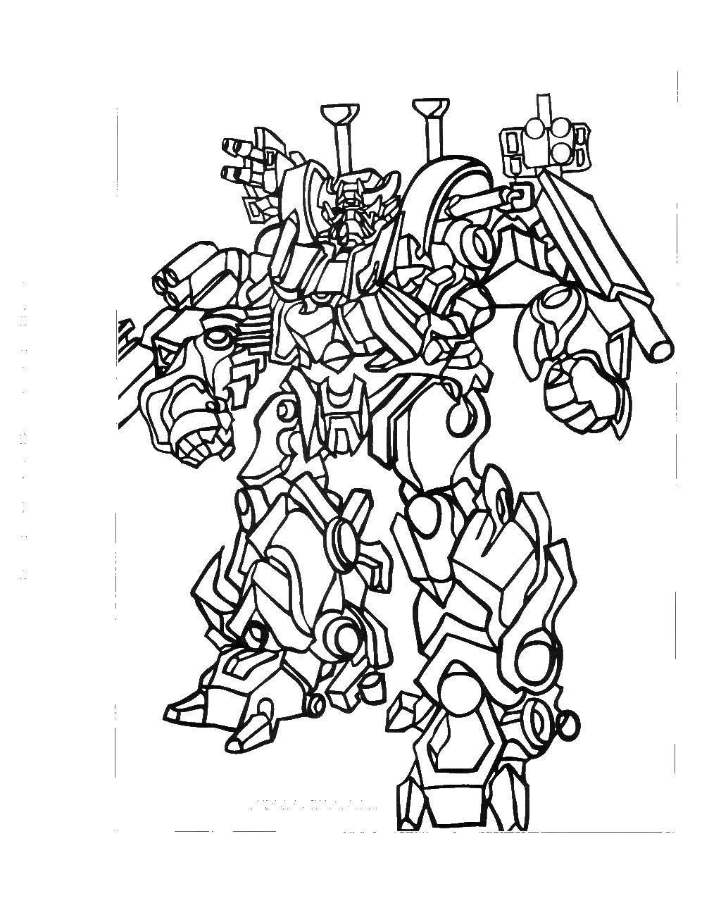 Раскраски трансформер, Страница:5.