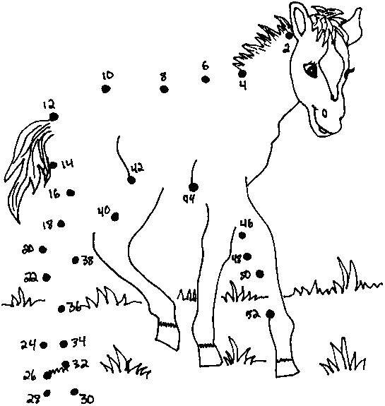 Раскраска нарисуй по точкам Скачать единорог, пегас, радуга.  Распечатать ,Волшебные создания,