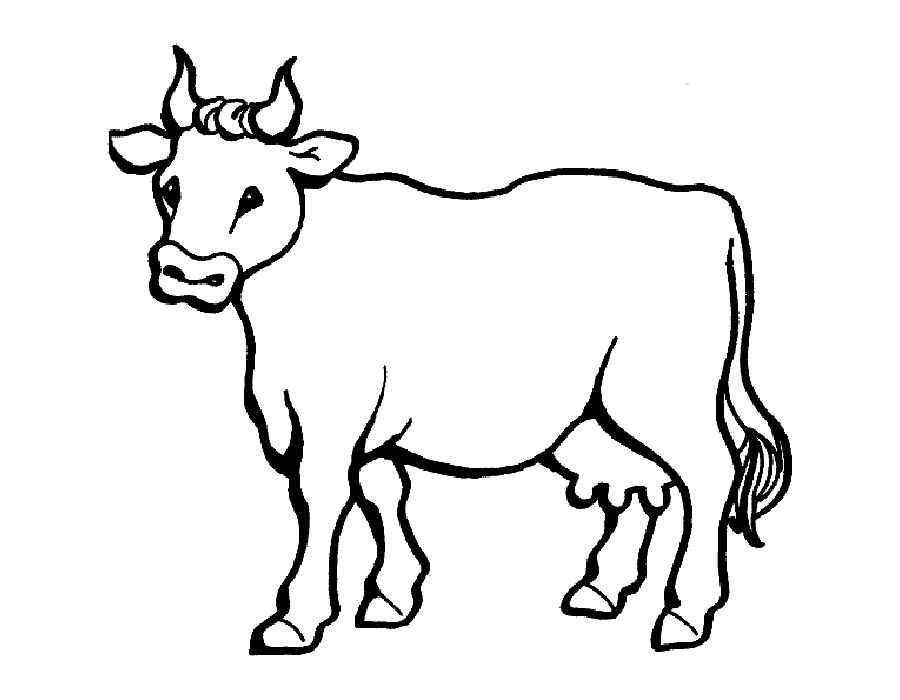 Раскраска домашние животные Скачать ,машины, трактор, техника, экскаватор,.  Распечатать
