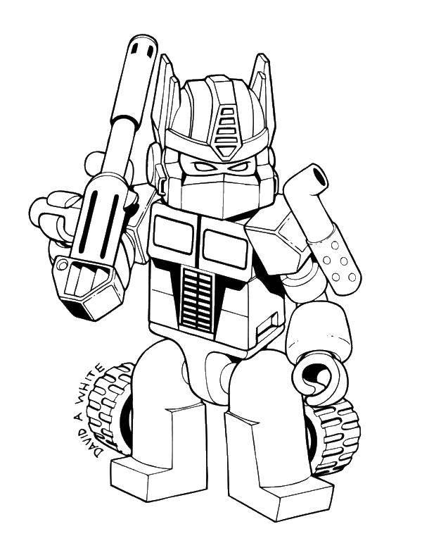 Раскраска Трансформер Скачать робот, трансформер..  Распечатать ,робот,