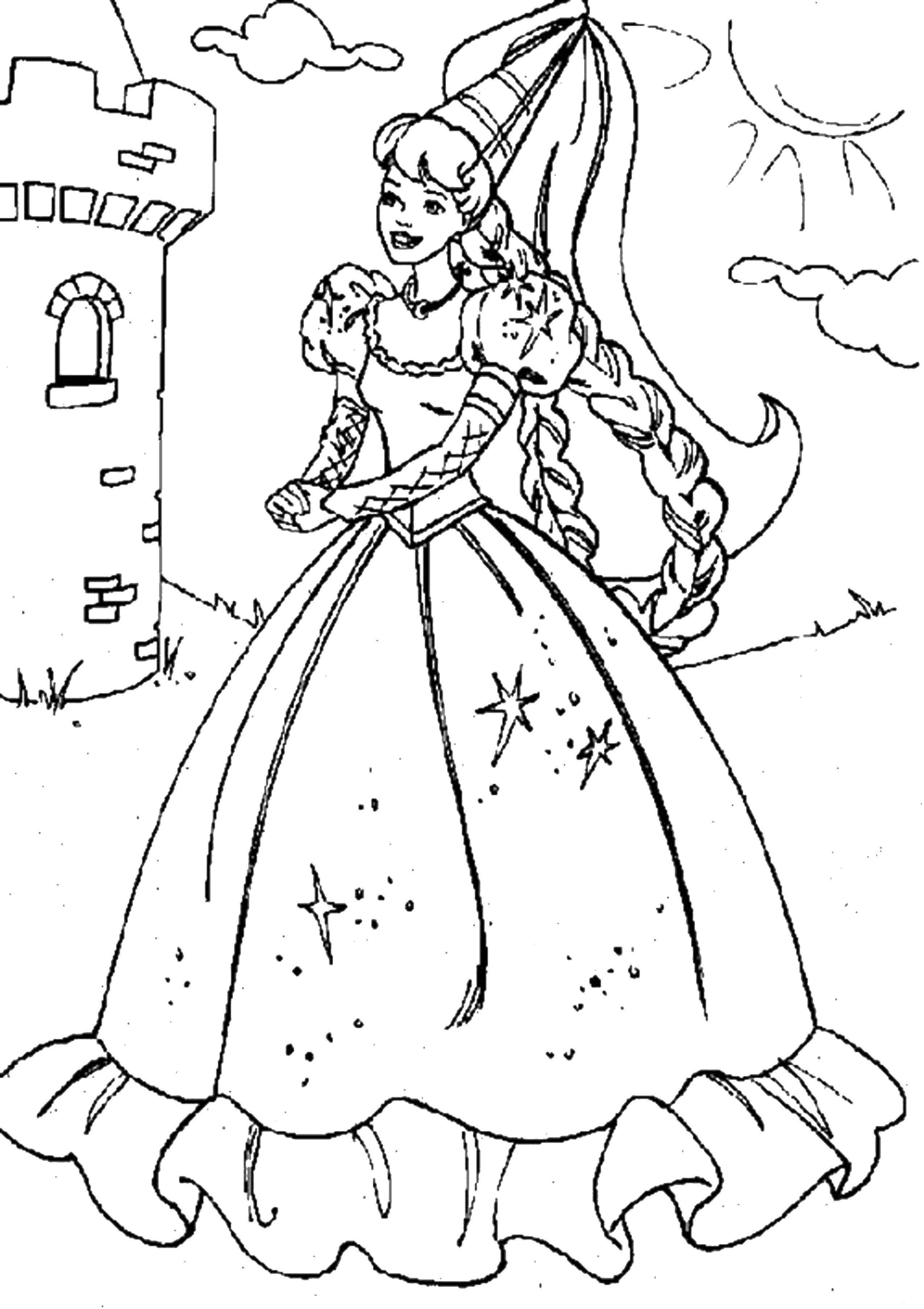 раскраски раскраска принцесса волшебного замка раскраски