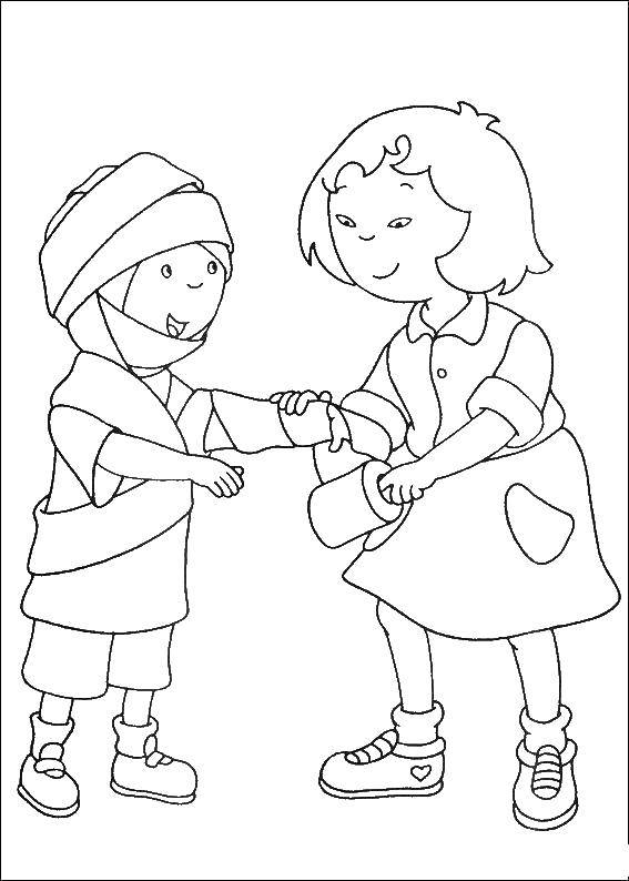 Online Coloring Pages Coloring Page Girl Puts Boy Toilet Paper