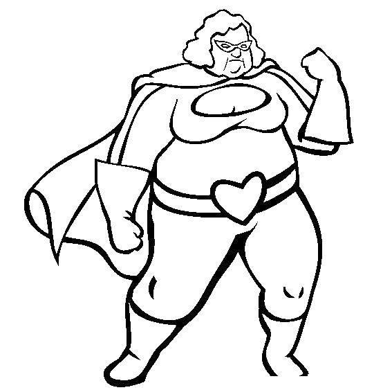 Раскраска Женщина супергерой Скачать женщина, супергерой.  Распечатать ,супергерои,