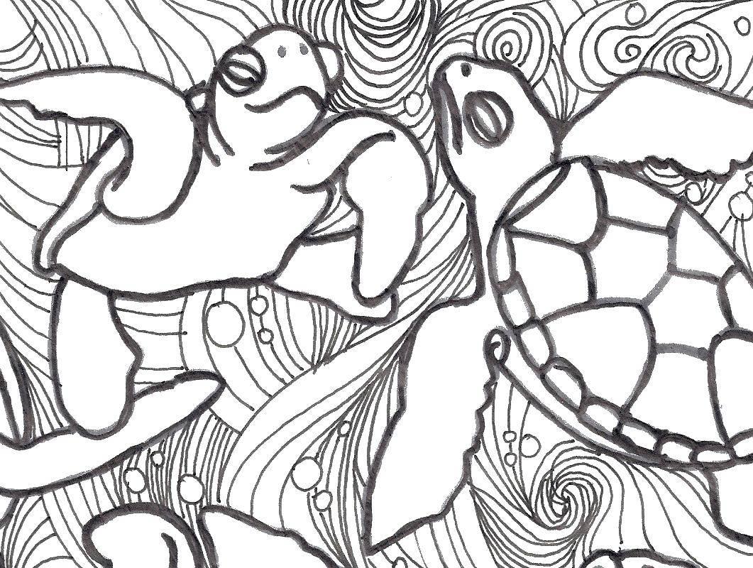 Раскраска морское Скачать герой игр.  Распечатать ,Компьютерные игры,