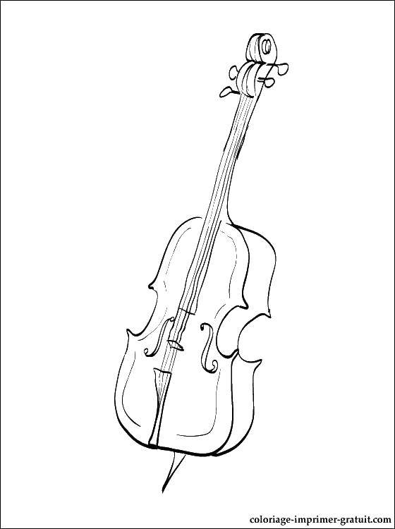 Online coloring pages Coloring page Cello musical instruments ...