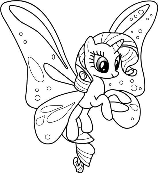 Раскраска Пони бабочка Скачать Пони, My little pony .  Распечатать ,Пони,