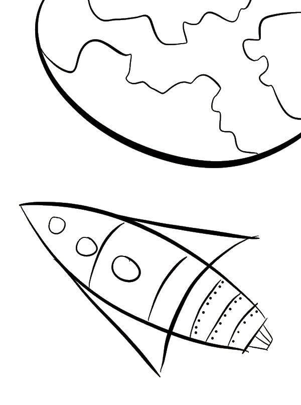 Раскраска ракеты Скачать ,лабиринты, карты,.  Распечатать
