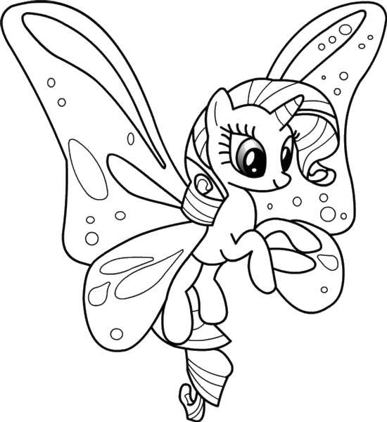 Раскраска Пони Скачать ,Пони, My little pony ,.  Распечатать