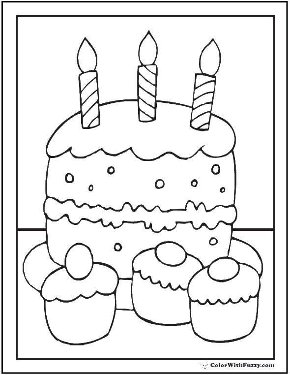 Раскраска торты Скачать комиксы, мультфильмы, супергерои.  Распечатать ,супергерои,