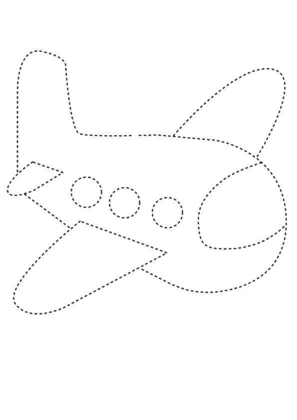 Раскраска Дорисуй по точкам самолет Скачать ,дорисуй, точки, самолет,.  Распечатать
