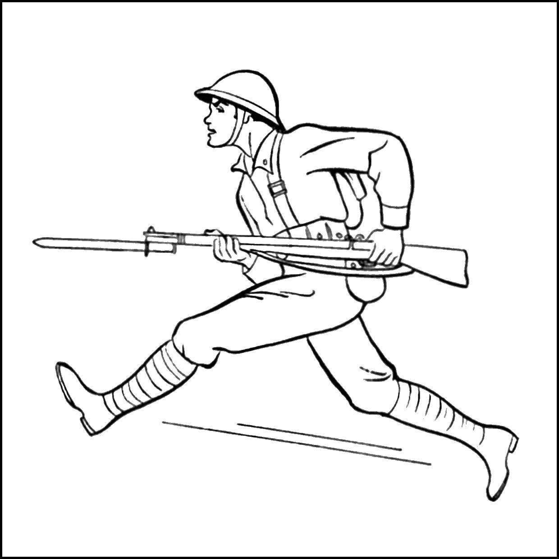 Раскраска военное Скачать ,ВинниПух,.  Распечатать