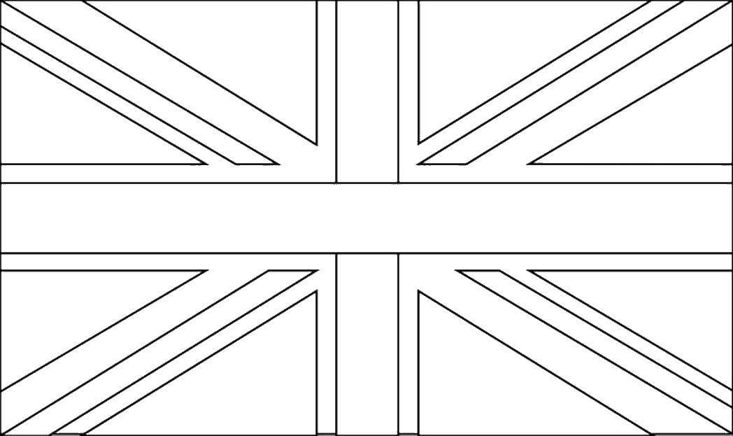 Раскраска Флаг великобритании. Скачать Англия.  Распечатать ,англия,