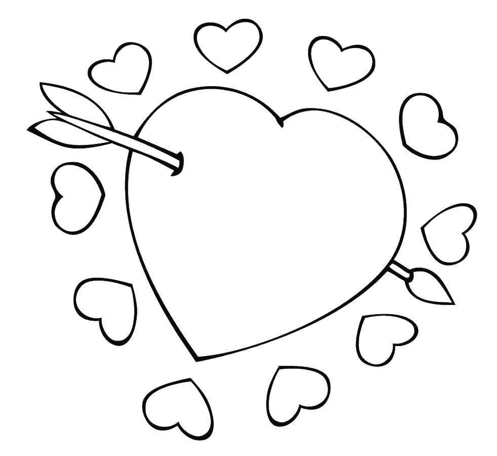 Раскраска Сердечки Скачать ,Поиск предметов,.  Распечатать