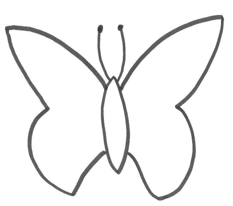 Раскраска контуры для вырезания бабочек Скачать щенок, мяч.  Распечатать ,домашние животные,