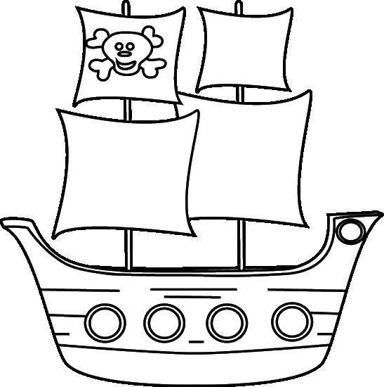 Раскраска Корабли с пиратским флагом Скачать пираты, корабль.  Распечатать ,Пираты,