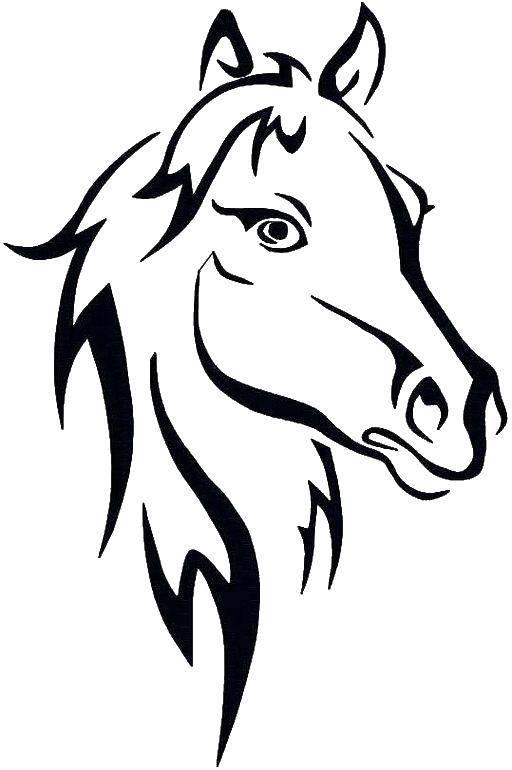 раскраски раскраска голова лошади раскраски