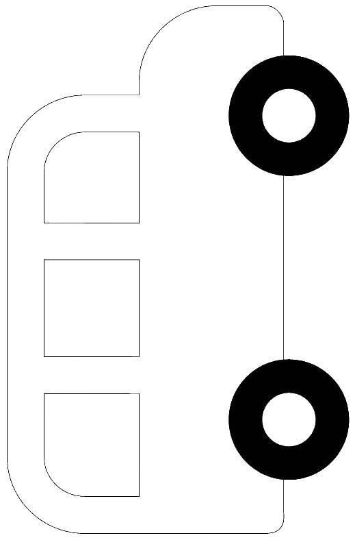 Раскраска Контур автобуса Скачать Одежда, платье.  Распечатать ,Платья,