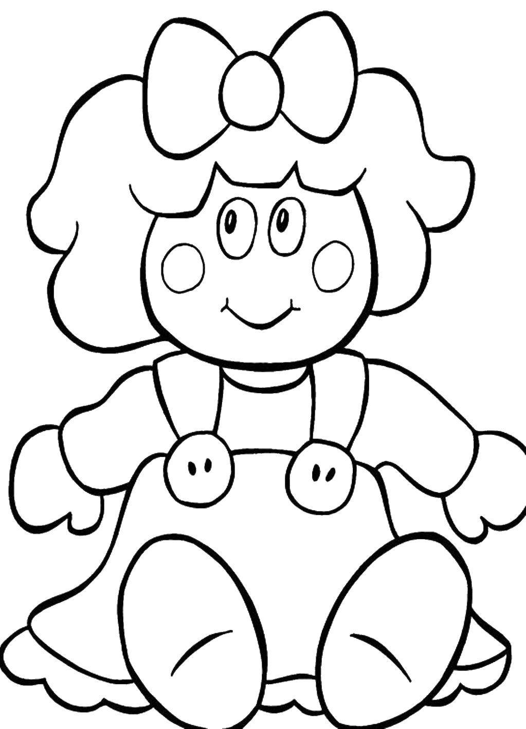 Раскраски кукла, Страница:6.