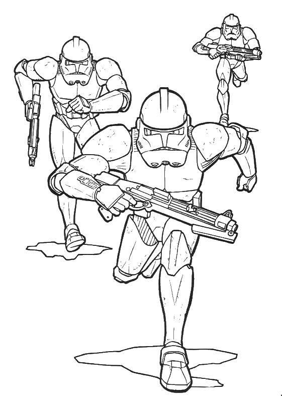Раскраска Герои  звездных войн  Скачать фильм, драка, Звездные войны.  Распечатать ,фильм,