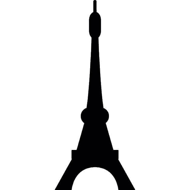 Раскраска Контур эйфилевой башни Скачать Эйфелева башня.  Распечатать ,Чудеса Света,