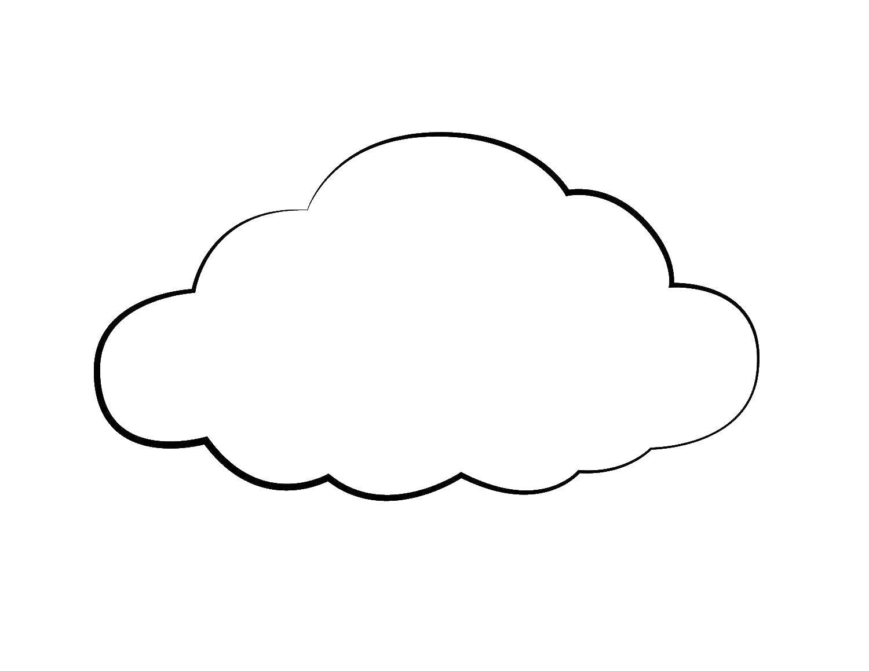 Раскраска Контур облачка. Скачать Контур.  Распечатать ,Контур облака,