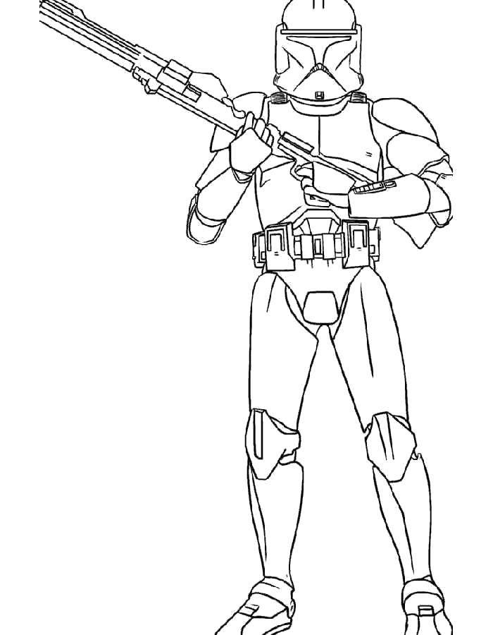 Раскраска Персонаж из звездных войн Скачать Будущее, Звездные Войны.  Распечатать ,Персонажи из фильмов,