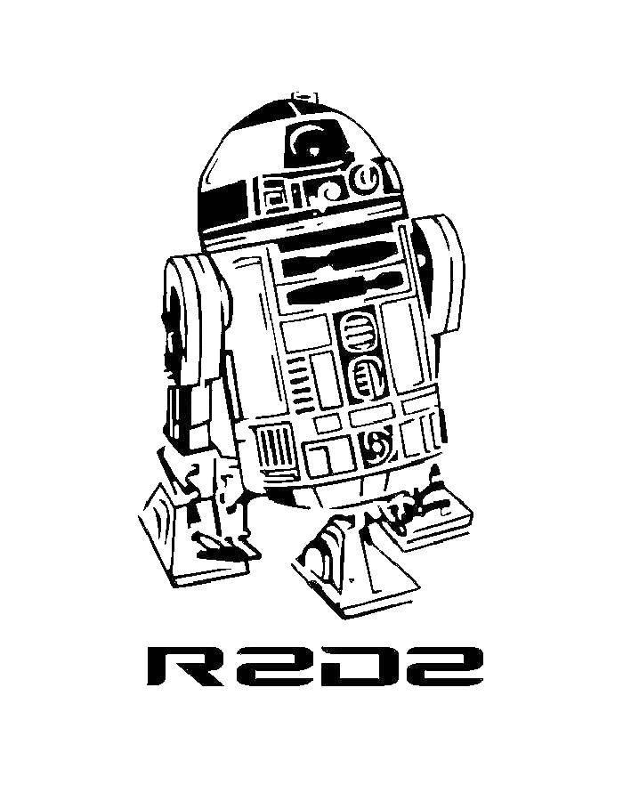 Раскраска Робот из звездных войн Скачать Будущее, Звездные Войны.  Распечатать ,Персонажи из фильмов,