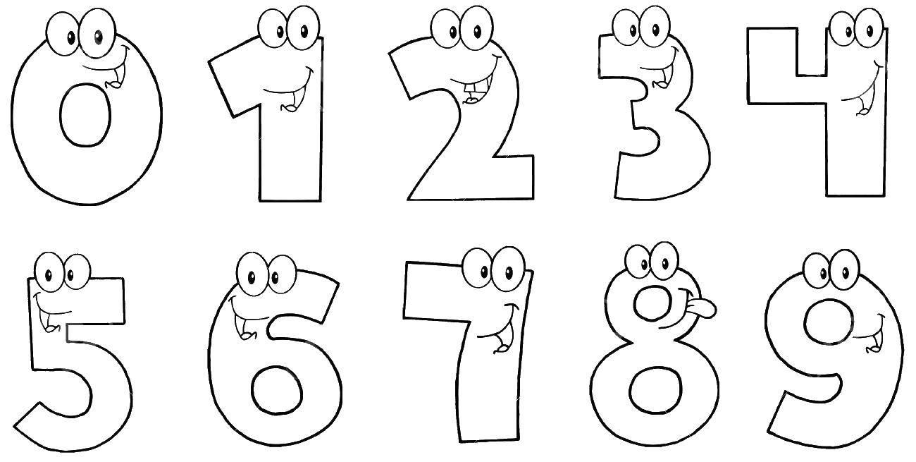 Раскраска Цифры Скачать ,цифры, числа, номера,.  Распечатать