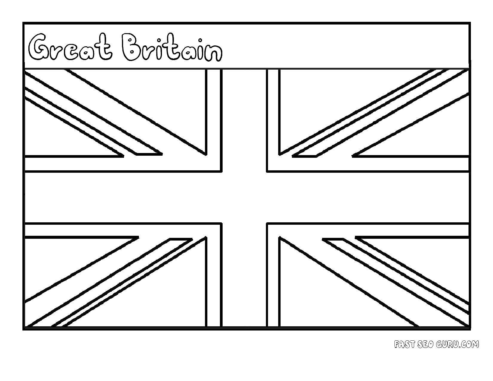 Раскраска Флаги Скачать ,флаги, Британия, Великобритания,.  Распечатать