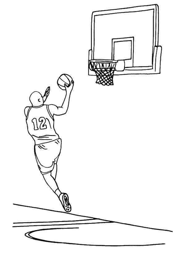 Раскраска баскетбол Скачать Корабль, вода.  Распечатать ,корабль,