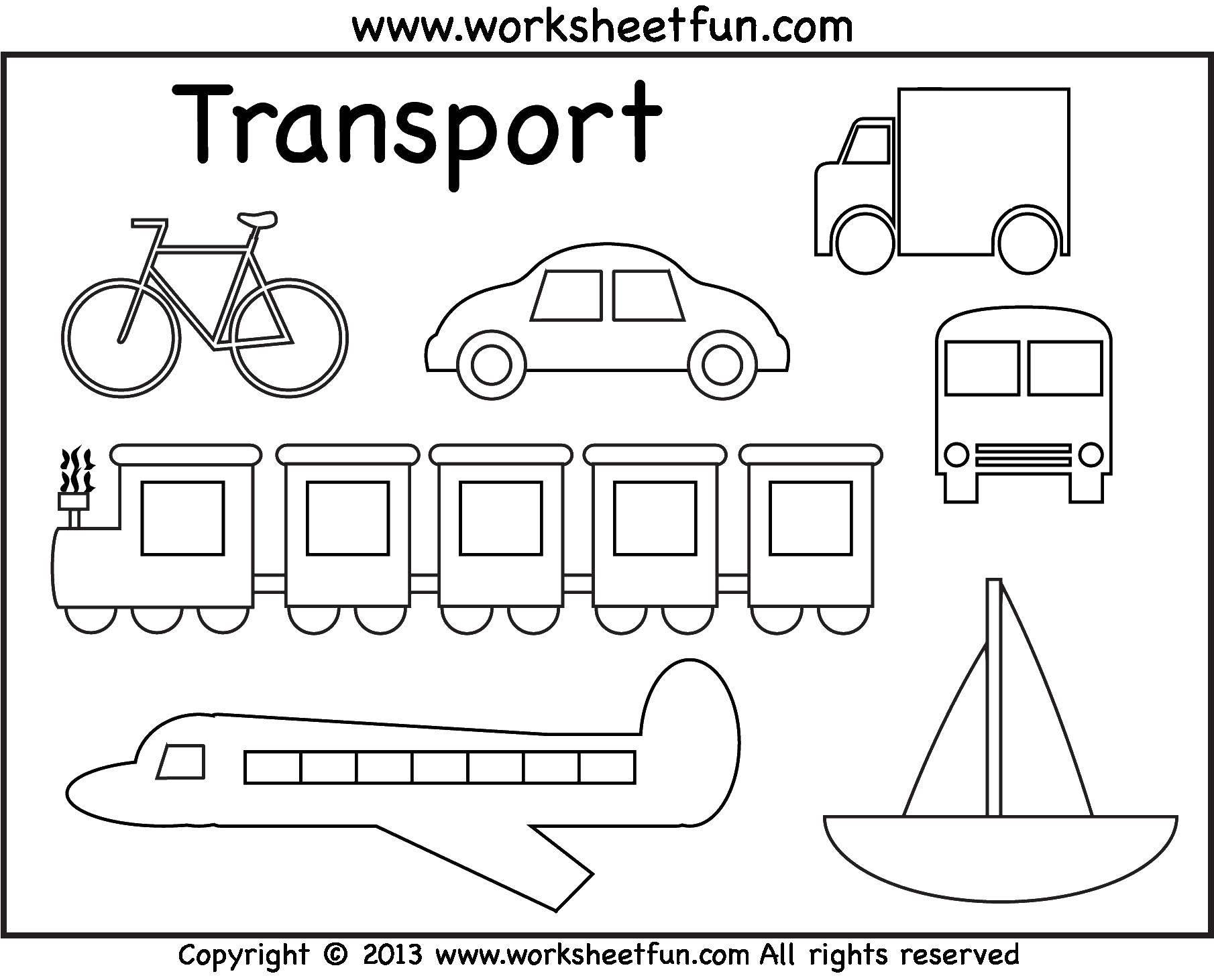 Раскраска Различный транспорт Скачать транспорт, машины, самолеты, корабль.  Распечатать ,транспорт,