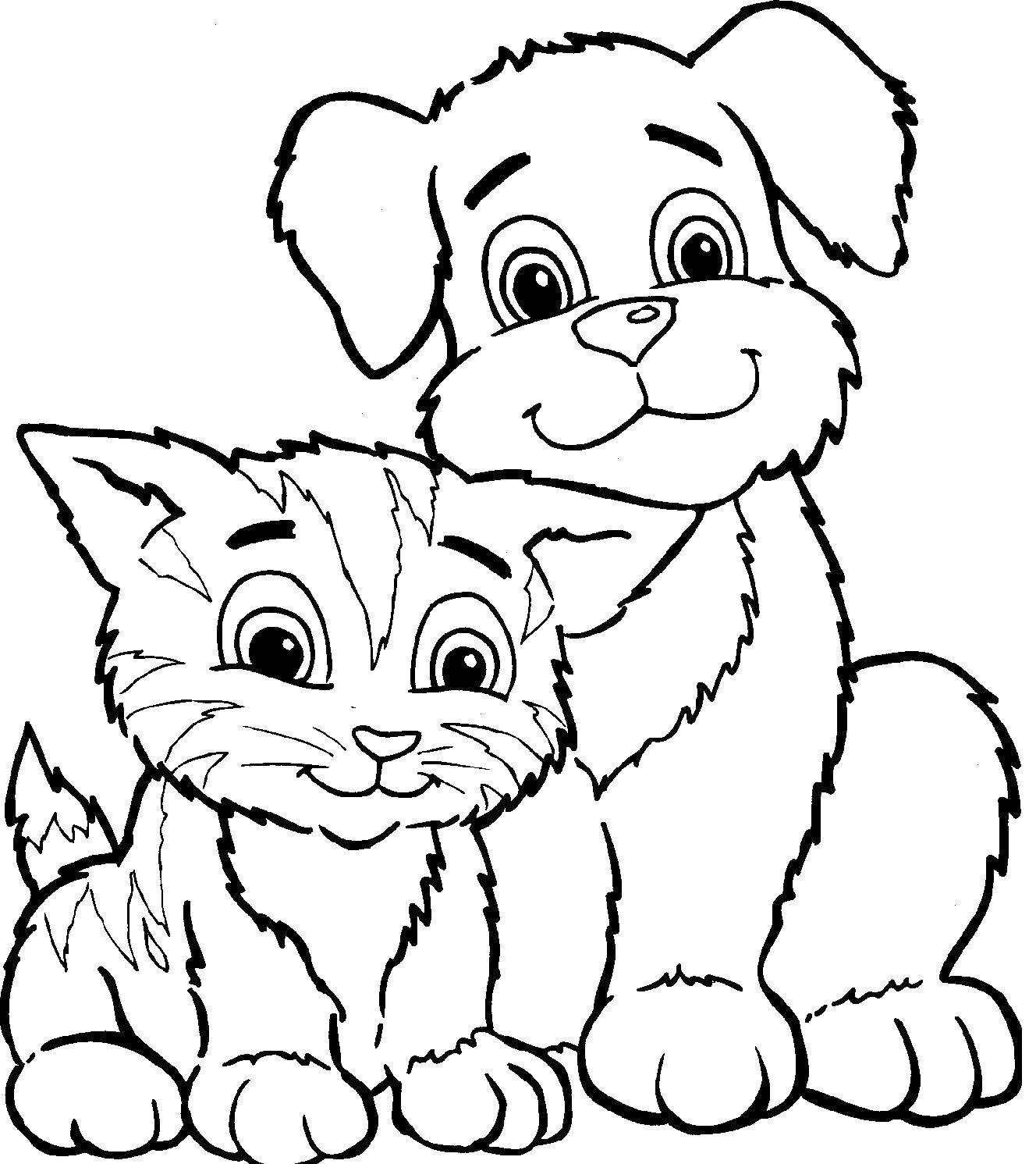 Раскраски котик, Страница:1.