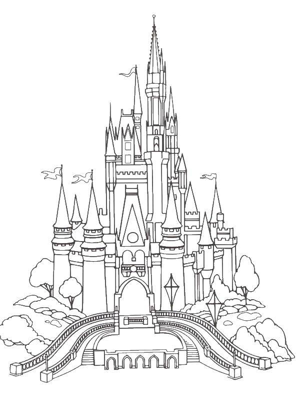 Online Coloring Pages Coloring Page Great Castle Locks Coloring